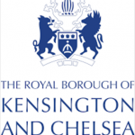 This image has an empty alt attribute; its file name is RBKC_logo_white-150x150.png